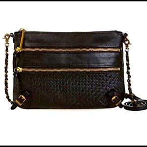 Elliott Lucca Messina leather crossbody/clutch bag